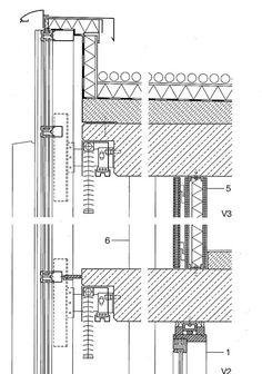 estructura muro cortina union forjado hormigon - Buscar con Google