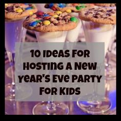 10 ideas for hosting a New Year's Eve party for kids (balloon drop, dance party, midnight milk and cookies. New Years With Kids, Kids New Years Eve, New Years Party, New Years Traditions, Holiday Traditions, Nye Party, Elmo Party, Mickey Party, Dinosaur Party