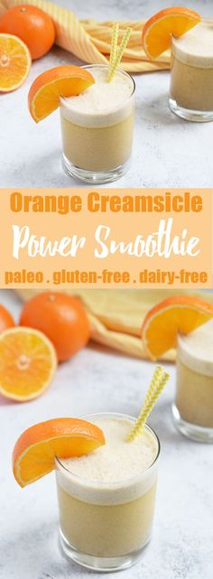 Orange Creamsicle Power Smoothie & HUGE Whole Foods Supplement Sale! Orange Creamsicle Power Smoothie from Living Loving Paleo! Dairy Free Recipes, Paleo Recipes, Whole Food Recipes, Gluten Free, Juice Recipes, Nutribullet Recipes, Paleo Meals, Paleo Food, Crockpot Meals