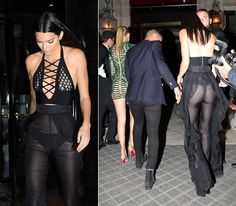 Let's just say ... like sister, like sister! Kendall Jenner certainly gave her big sis Kim Kardashian a run for her money as she stepped out during Paris Fashion Week in a jaw-dropping sheer outfit that revealed her derriere (and some), while out for dinner with Balmain designer Oliver Rousteing and gal pal Gigi Hadid on Sept. 30, 2015.