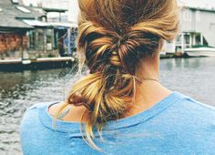 Messy Double Twisted Low Ponytail