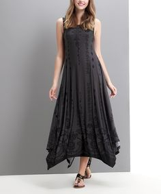 Reborn Collection Charcoal Ornate Handkerchief Dress | zulily. Would love to make a version of this