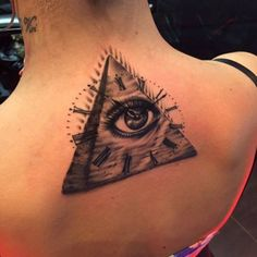 Tattoo Pyramid Eye Dial  - http://tattootodesign.com/tattoo-pyramid-eye-dial/  |  #Tattoo, #Tattooed, #Tattoos