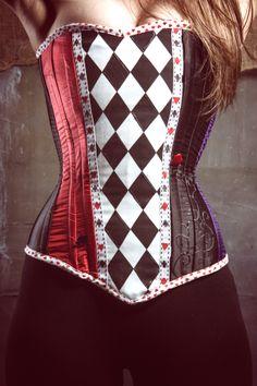 Harley Quinn inspired corset