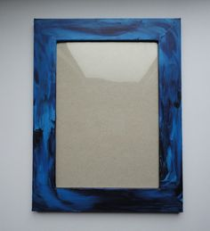 Blauer+Holzbilderrahmen+von+Artesania+auf+DaWanda.com