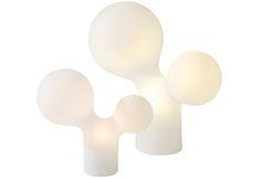 Eero Aarnion suunnittelema klassikkovalaisin. Valaisimen kupu on valmistettu kierrätettävästä muovista ja se sisältää energiatehokkaat valonlähteet.