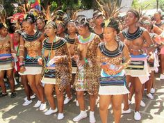 South African maidens in all their glory. African Dance, African Girl, African Beauty, African Women, Tribal People, Tribal Women, Zulu Dance, Xhosa Attire, Africa Tribes