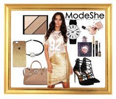 """ModeShe"" by deja-leko ❤ liked on Polyvore featuring Jimmy Choo, Elizabeth Arden, Alex and Ani, Rosendahl, Steve Madden, Yves Saint Laurent and modeshe"