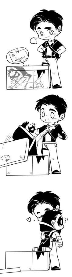Damian Wayne Robin And Dick Grayson Nightwings - Batman Funny - Funny Batman Meme - - The post Damian Wayne Robin And Dick Grayson Nightwings appeared first on Gag Dad. Nightwing, Batgirl, Catwoman, Batman Meme, I Am Batman, Batman Robin, Gotham Batman, Batman Art, Tim Drake