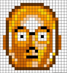 C3PO perler bead pattern