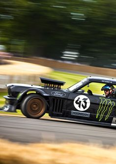 Ken Block ride his Ford Mustang Hoonicorn, Festival of Speed 2015 Goodwood