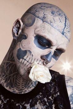 Zombie Boy full head and body tattoo