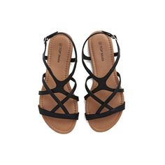 ef9b267e09f7 ModCloth Festival Strappy to Help Sandal ( 28) ❤ liked on Polyvore  featuring shoes
