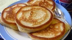Pancakes, Food And Drink, Healthy Recipes, Healthy Food, Breakfast, Basket, Biscuits, Healthy Foods, Morning Coffee