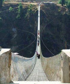 Kushma-Gyadi Suspension Bridge, Nepal.༺♥༻神*ŦƶȠ*神༺♥༻