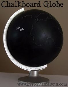 next time i see a globe at the thrift store....so going to make this!