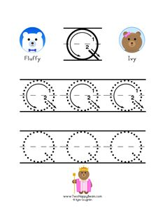 60 best childrens education images on pinterest how to write the letter q with large images to trace for practice in expocarfo Images