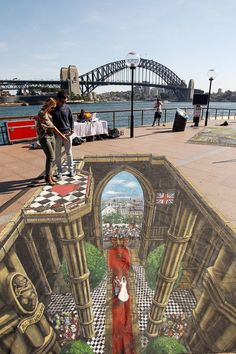 3D chalk art. So awesome.