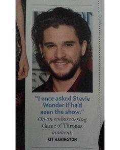 You know nothing, Jon Snow. (photo via devinkills)