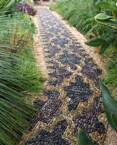 Pebble path by Anne Ziemienski, Glen Ellen, Calif. www.ziemienski.com - See more…