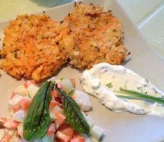 Pastinaak zoete aardappel koekjes met zure room* - http://www.volrecepten.be/r/pastinaak-zoete-aardappel-koekjes-met-zure-room-9810037.html
