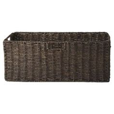 Woven baskets are the perfect way to organize toys and games in a child's room or playroom. | $45