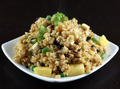 Paleo Thai Pineapple Fried Rice use cauliflower rice.