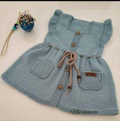 Baby Knitting Patterns, Crochet Patterns, Crochet Baby, Knit Crochet, Sewing Baby Clothes, Knitted Slippers, Baby Cardigan, Baby Dress, Knit Dress