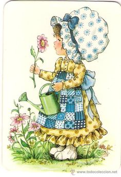 Prairie girl by Sarah Kay Sarah Key, Holly Hobbie, Cute Images, Cute Pictures, Mary May, Hobby Horse, Cute Illustration, Illustrations, Vintage Cards
