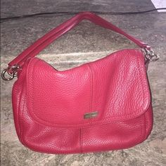 Cole Haan Red Hono Purse Red Cole Haan hobo style purse with gold detailing. Medium size. Gently used and in great condition. Large zipper and pockets on inside of bag. No signs of ware. Cole Haan Bags Shoulder Bags