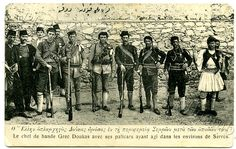C1913 Printed Postcard Greek Militia Near Serres Macedonia 1st Balkan War | eBay