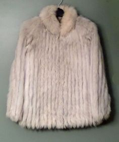 Saga FOX Fur Coat Jacket, White/Cream Plush, Size Women's Size Medium #Saga #BasicCoat