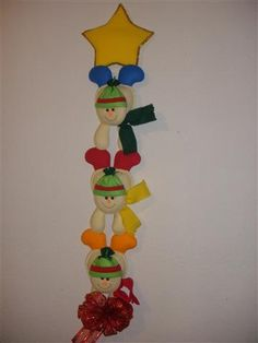 felt christmas three snowman wall hanging by craftsforeveryoccasi, $60.00