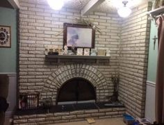 When we bought this house 22 year ago, we sort of liked the floor-to-ceiling natural brick fireplace. However, as the years went by we began to dislike the outd…
