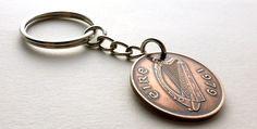 Irish keychain Coin keychain Music keychain Coin by CoinStories