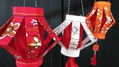 Make your own paper Chinese lanterns that you can decorate and color yourself. Chinese New Year Decorations, Chinese New Year Crafts, New Years Decorations, New Year's Crafts, Crafts For Kids, Paper Crafts, Chinese Paper Lanterns, Lantern Craft, Cultural Crafts