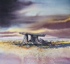 - Poulnabrone Portal Tomb by Roland Byrne Art Images, Portal, Fine Art America, Wall Art, Bb, Stones, Painting, Design, Rocks