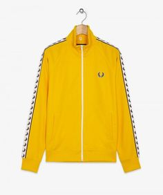22b64ed3e3bf Fred Perry J6231 Laurel Wreath Tape Track Jacket, from ApacheOnline Tracksuit  Tops, Sports Shirts