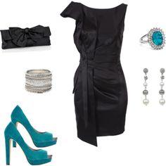 Every girl needs a little black satin dress.