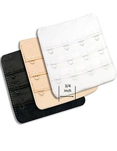8cda2c1344 Ladies Bra Extender 4 hook Bra Back Extension Strap ¾ inch Hook  amp  Eye  Tape