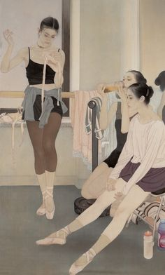 He Jiaying, peintre chinois contemporain Reminds me of Mary Cassatt Chinese Contemporary Art, Contemporary Artists, Chinese Painting, Chinese Art, Figure Painting, Painting & Drawing, Art Ballet, Art Chinois, Kunst Online