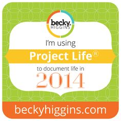I'm using Project Life to document our lives in 2014!!