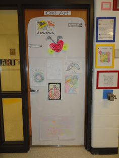 mrspicasso's art room: Cool Art- refrigerator to hang those drawing kids give you