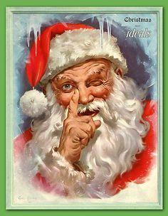 Very RARE 1949 Christmas Ideals Issue Santa Claus Xmas Van Hooper Book Magazine | eBay ART