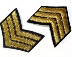 5 PCS Iron On Embroidered Army Patch Appliques