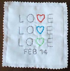 Lovely Embroider Hearts - Easy to make gifts come in all shapes and sizes, and you'll find these Lovely Embroider Hearts absolutely darling.