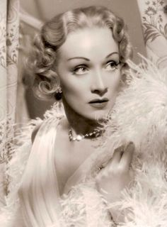 Marlene Dietrich playing Charlotte Inwood in Stage Fright 1950 directed by Alfred Hitchcock