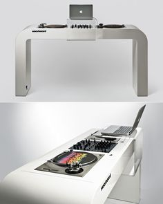 David Kornmann's Killer DJ Table design... totally what i need to lay out my DJ stuff!