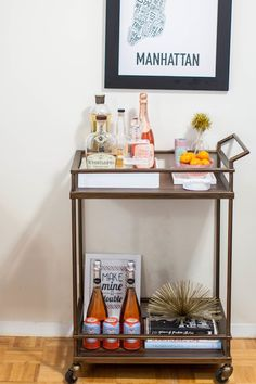How To Style Your Bar Cart | theglitterguide.com