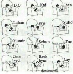 I'm mostly Baekhyun, Suho, Luhan, and Chanyeol. Exo Xiumin, Exo Ot12, Kpop Exo, Exo Kai, Chanbaek, Kaisoo, Memes Exo, Funny Kpop Memes, Jenni Rivera